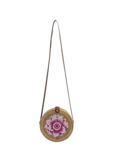 Sever El Yapımı Rattan Çanta Desen 4 Renkli